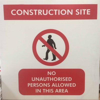 Construction Site Corriboard Sign