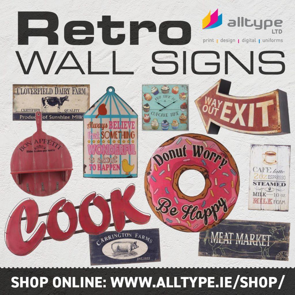 RETRO WALL SIGNS 1080