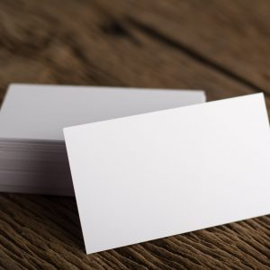 Blank white Business card presentation of Corporate identity