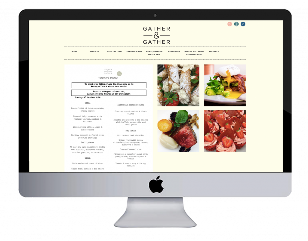 gather & gather website